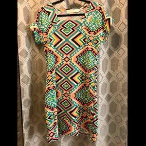 Boho Aztec shift dress